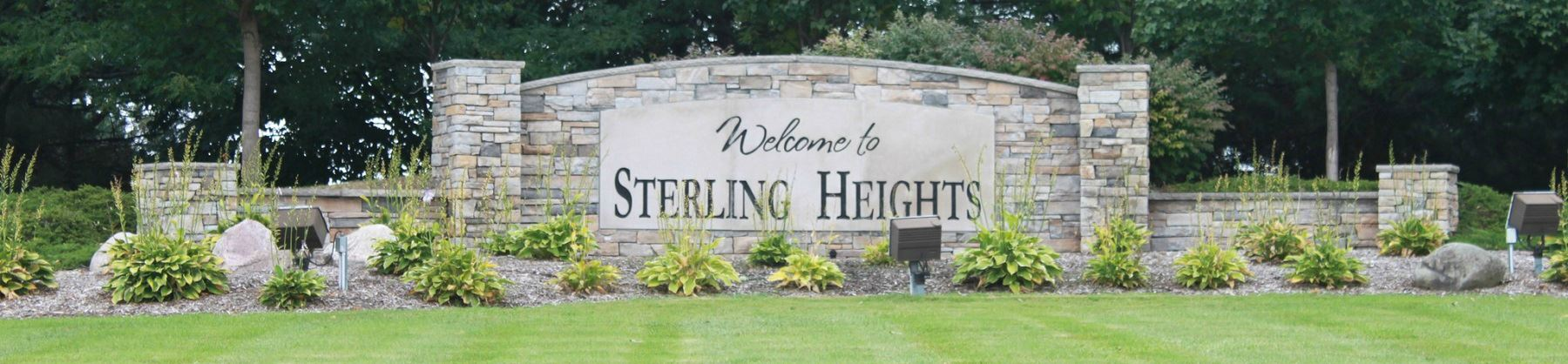 Photo of the entrance to sterling heights michigan