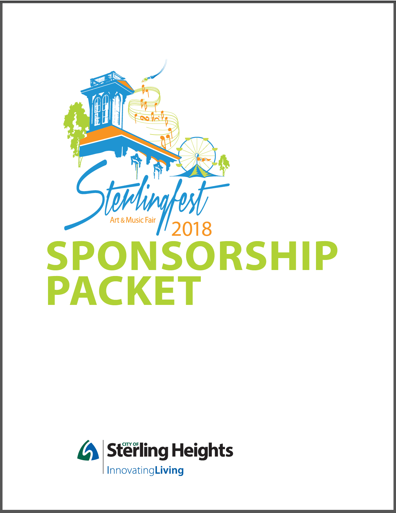Sterlingfest Sponsorship Packet Cover