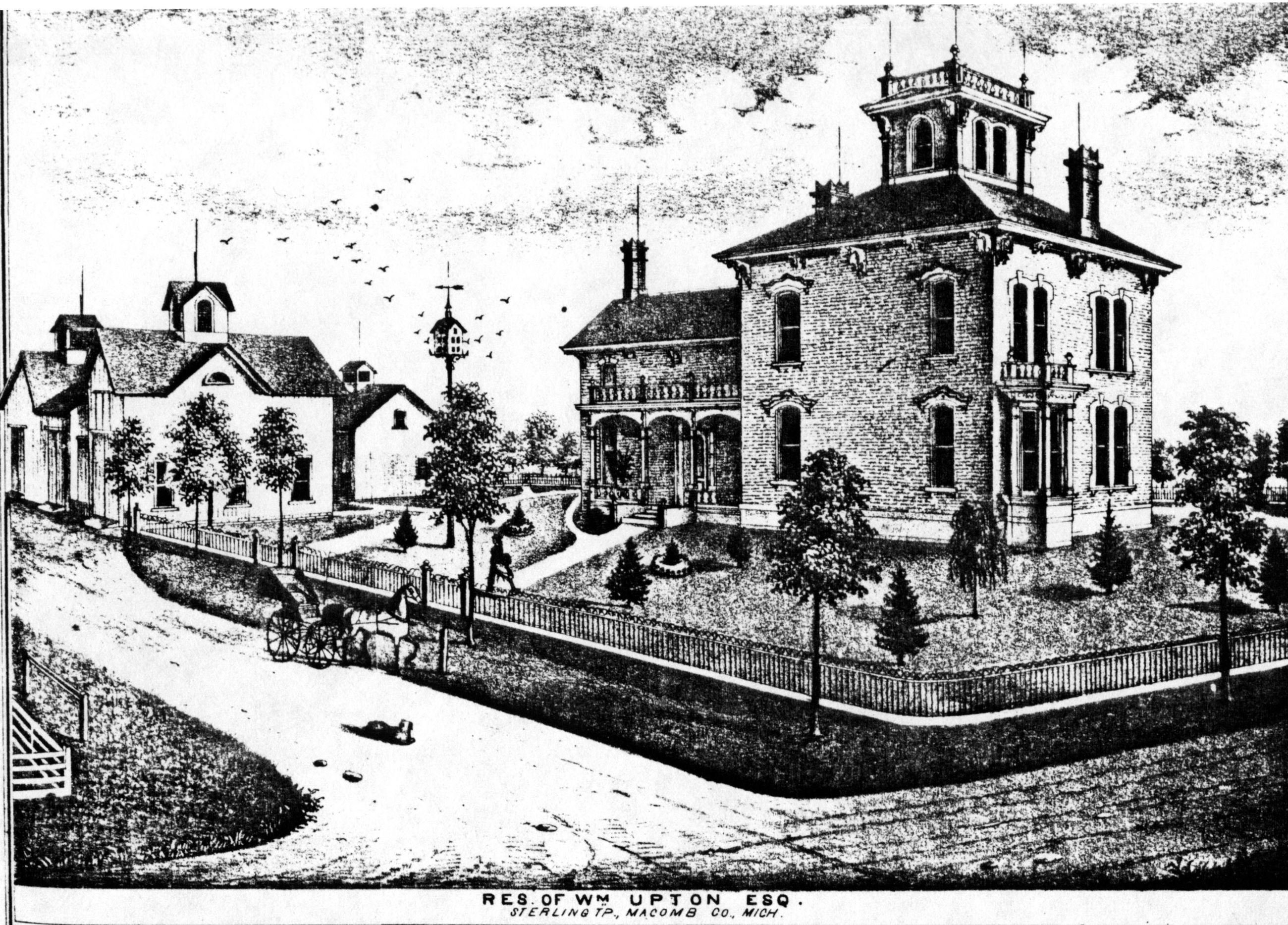 Upton House drawing 1875